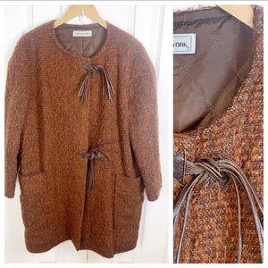 VINTAGE • Jones New York Wool Blend Coat - Large